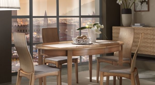 Tavolo ovale allungabile art. 22005