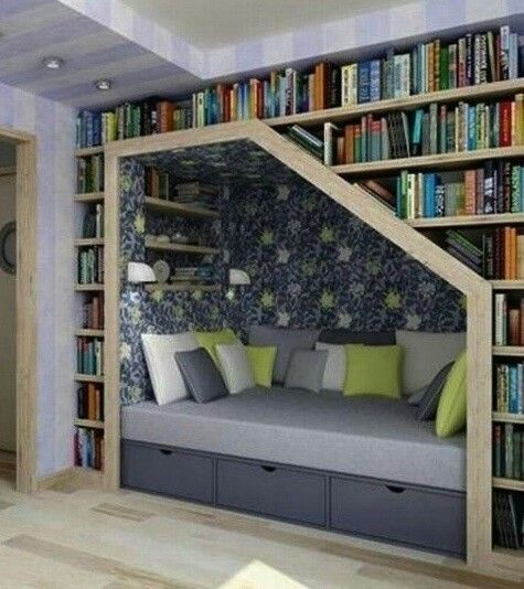Book nook.  LOVE this!!