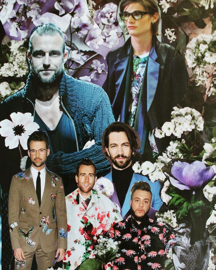 Коллаж 2015г . #мужчины и #цветы #коллаж #тренд #trend #pinterest #collage #flowers #mans