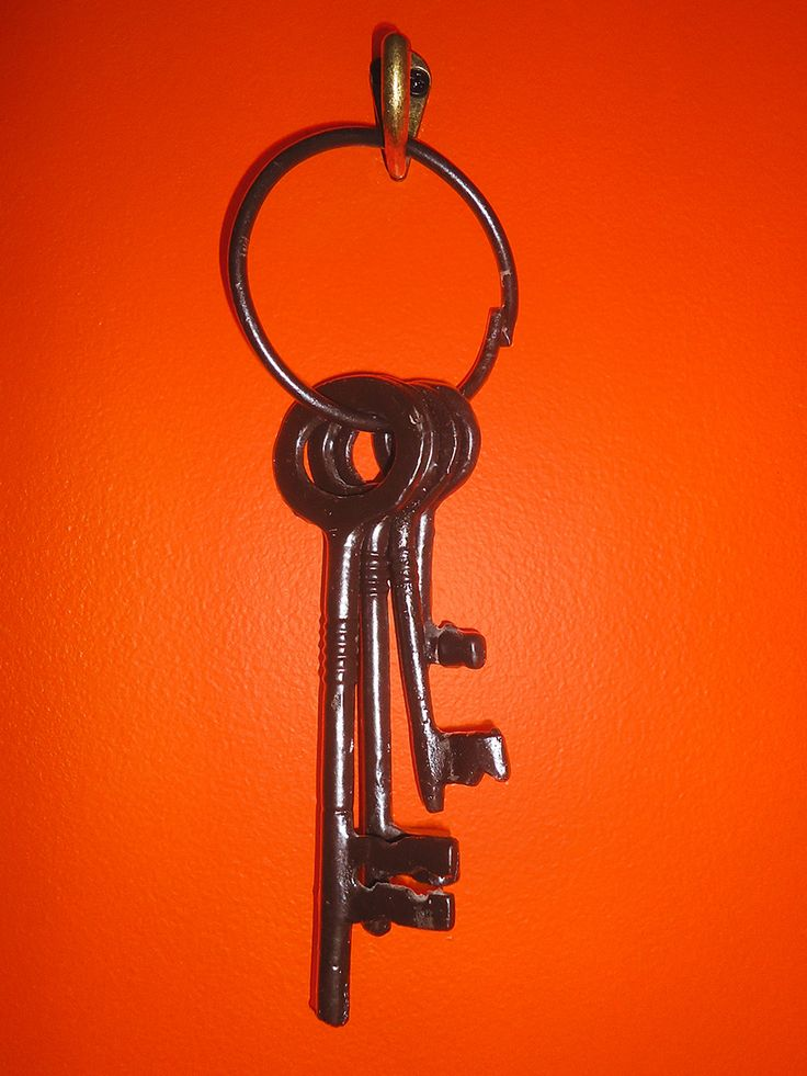 Just a ring of keys. Because you can never have enough keys around for inspiration.