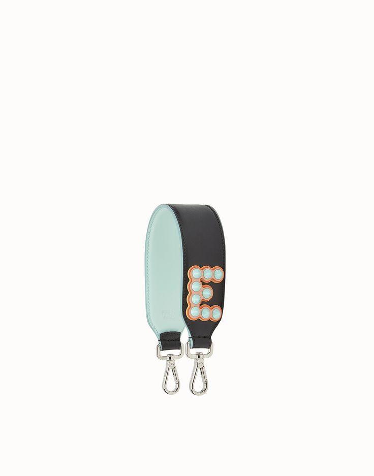FENDI MINI STRAP YOU - Leather shoulder strap with letter - view 1 zoom
