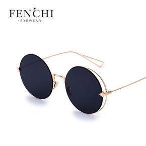 Günstige Fenchi Cool Lady Sonnenbrille Runde Sonnenbrille Beschichtung Sonnenbr…