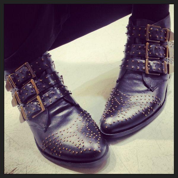 Nieten Boots von Bronx  #shoes #fashion #engelhorn #autumn