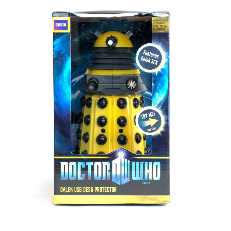 "Doctor Who USB 8"" Desk Protector Figure: Yellow Dalek"