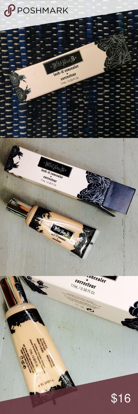 Kat Von D Lock-It concealer in Light (BNWB) Brand new Kat Von D Lock-It concealer/corrector. Never been used! All product information on box is pictured :) Kat Von D Makeup Concealer