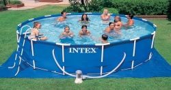 We Recommend !  Intex Family Size Round Metal Frame Pool Set  Medium-size, metal-frame, family pool set  Constructed of high-grade steel that...