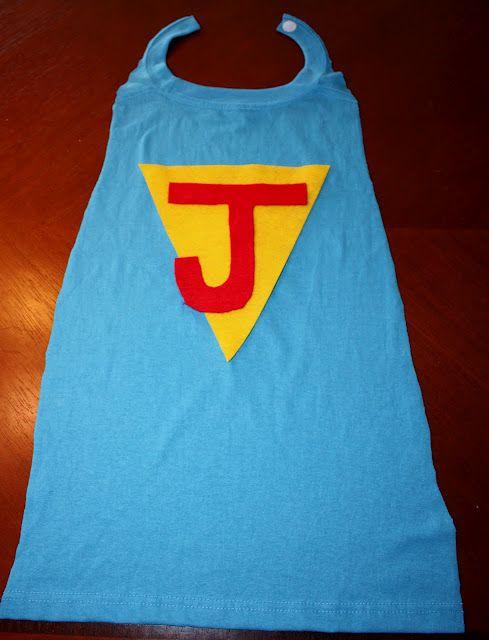 DIY Simple Superhero Cape made from a t-shirt