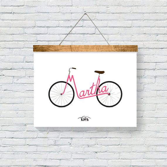 Touring Bike CUSTOMIZED PRINT with your by KeepMakingSmiles