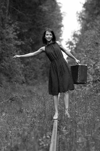 Девочка из Советского Союза - навстречу мечте по железной дороге