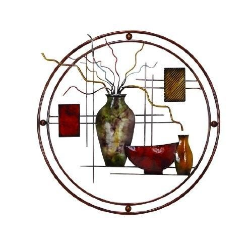 Metal Wall Art Decor Modern Contemporary Vases Bowls Living Room Home Hanging #Generic #Contemporary