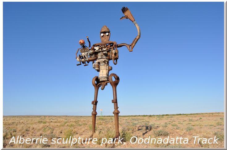 Alberrie sculpture park on the Oodnadatta Track