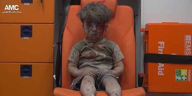 'Haunting' image of boy rescued in Aleppo bombing – Cyprus News