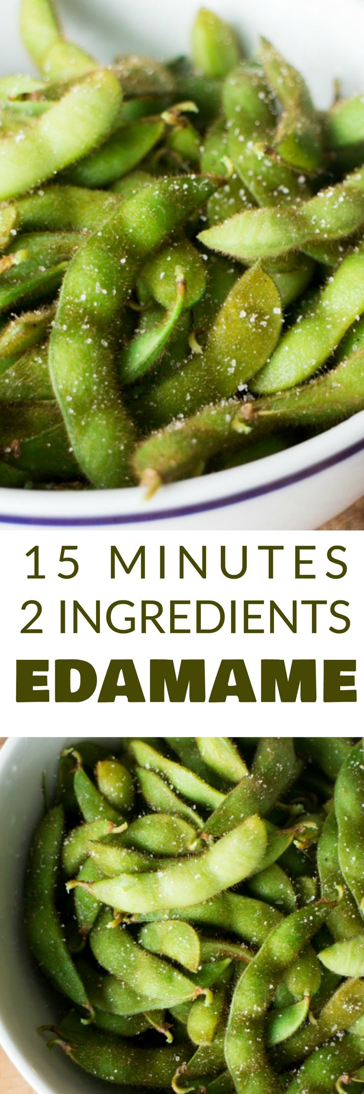 This Homemade Salted Edamame tastes just like your favorite Japanese restaurant. This healthy recipe takes 15 minutes and requires 2 ingredients. Make it as a side dish or a snack!