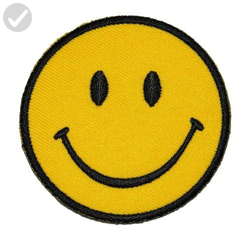 Funny Smiley Smile Happy Yellow Face DIY Applique Embroidered Sew Iron on Patch SM-005 - Fun stuff and gift ideas (*Amazon Partner-Link)