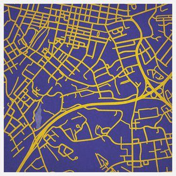 James Madison University Print by City Prints Map Art