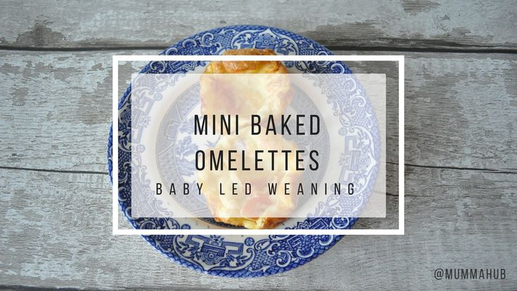 Healthy baked omelette recipe, perfect for baby led weaning.