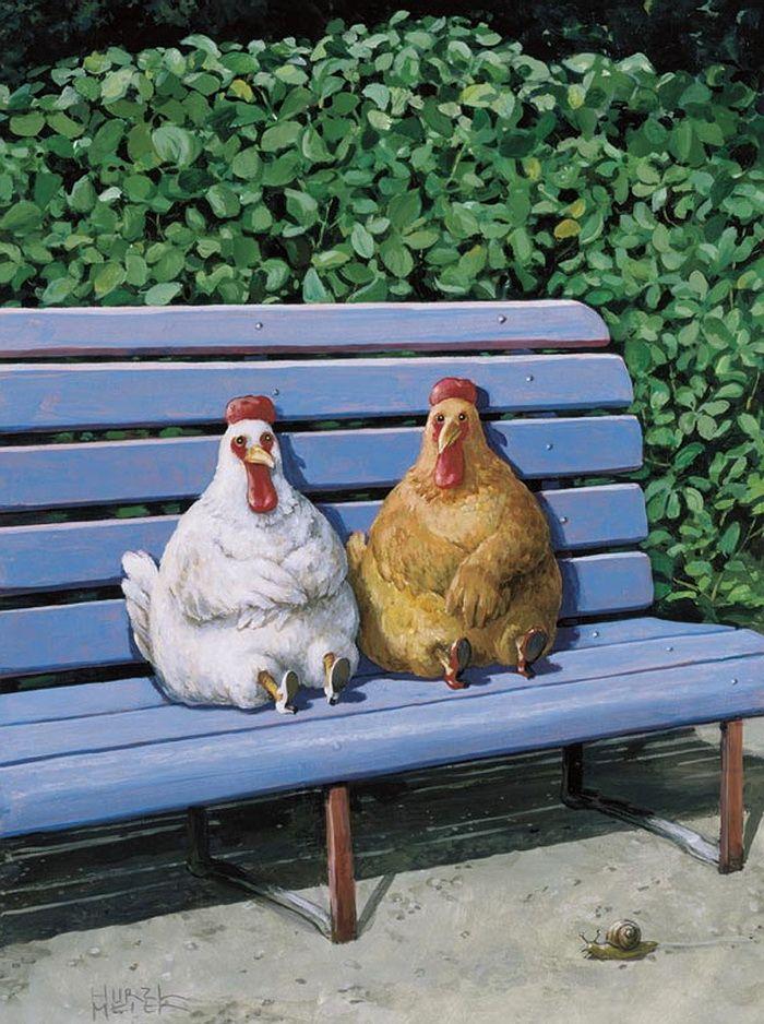 Прикольные картинки с курицами и петухами