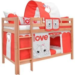 Kinderbett aus massivem Kiefernholz 103, inkl. Frühstücksbuffet Lattenrost – 60 x 120 cm (B x L) Ste   – Products