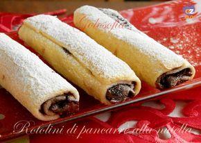 Rotolini di pancarrè alla nutella, golosissimi dolcetti ripieni di cioccolata, cotti in forno e non fritti!