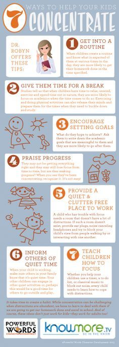 7 Ways to Help Your Kids Concentrate--Dr. Robyn Silverman Parenting Tips #drrobyn #parentingtips