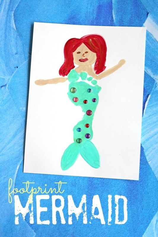Footprint Mermaid Keepsake Idea #crafting #EndlessInspirations