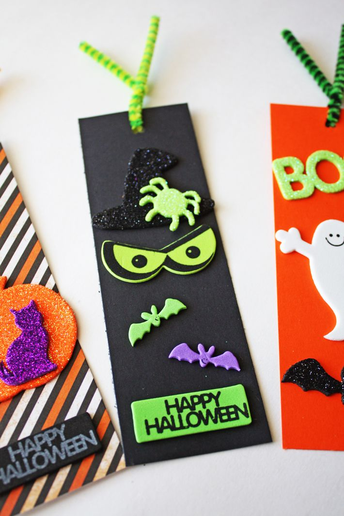 Easy Halloween Bookmarks Halloween Craft Ideas Pinterest