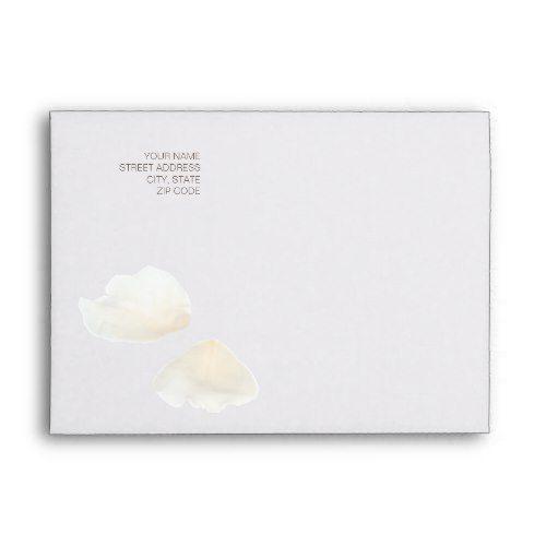 Wedding Invitation Envelope, Format 1: Ivory Rose Envelope