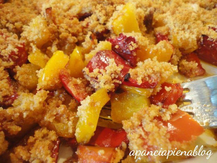 Peperoni gratinati (ricetta semplice).la mia modifica, per rendere i peperoni più digeribili: arrostire prima di gratinare