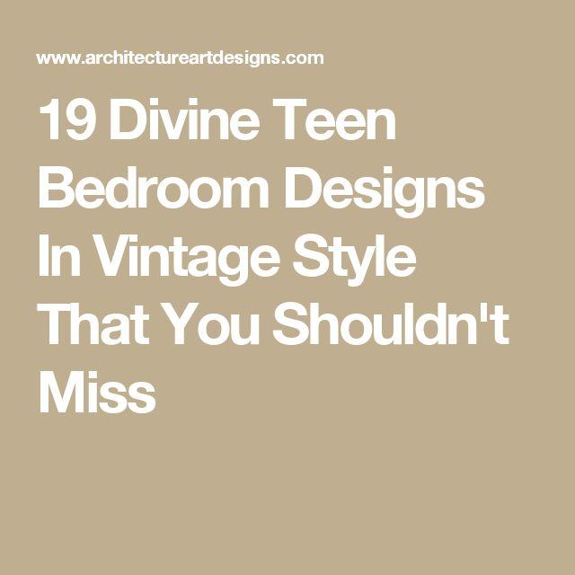 19 Lavish Bedroom Designs That You Shouldn T Miss: Best 20+ Teen Bedroom Designs Ideas On Pinterest