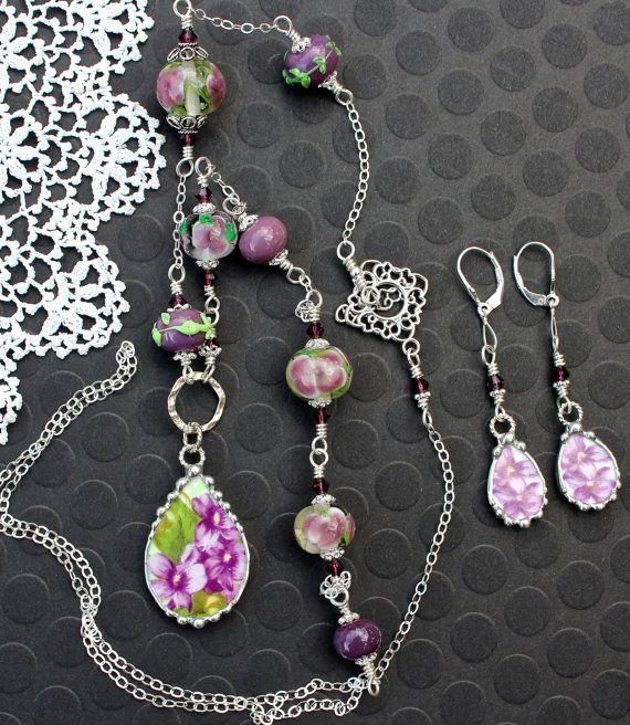 Collier Broken China bijoux collier de par Robinsnestcreation1