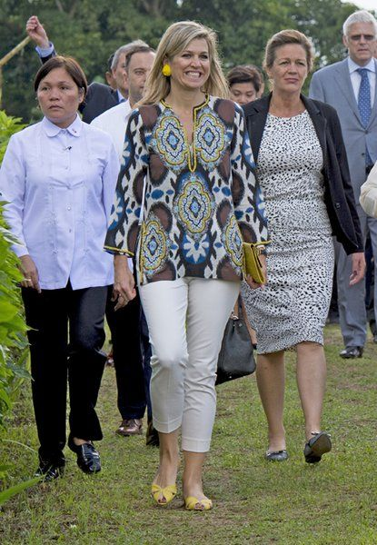 On June 30, 2015, Queen Maxima of the Netherlands visited a pineapple farm in the Tagaytay City, south of Manila, Philippines.Queen Maxima visits a pineapple farm in Philippines