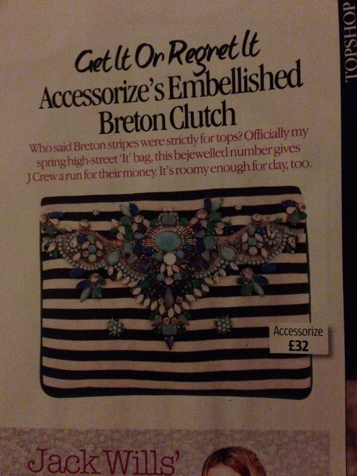 Accessorize Embellished Breton Clutch