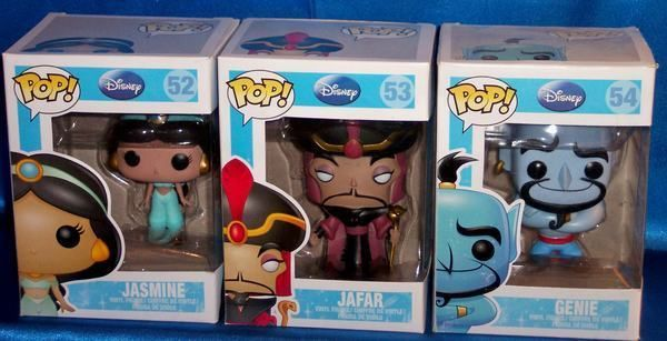 NEW FUNKO POP DISNEY RETIRED ALADDIN JASMINE JAFAR & GENIE VINYL ...