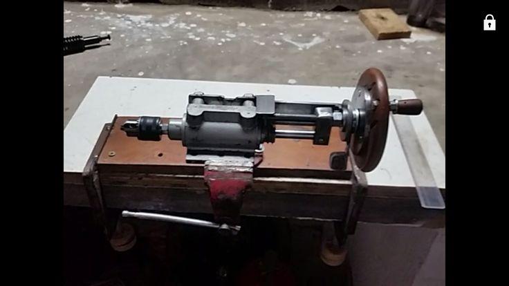 Adaptação de amortecedor espingarda como  contra ponta de torno, com mandril 3/4 in x 10 mm