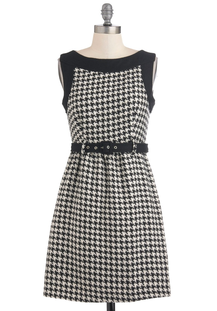Bonjour the One DressWork Clothing, Fashion, Houndstooth Dresses 3, Modcloth Styleicon, Modcloth Bonjour, Shops, Houndstooth Prints, Retro Vintage Dresses, Work Dresses
