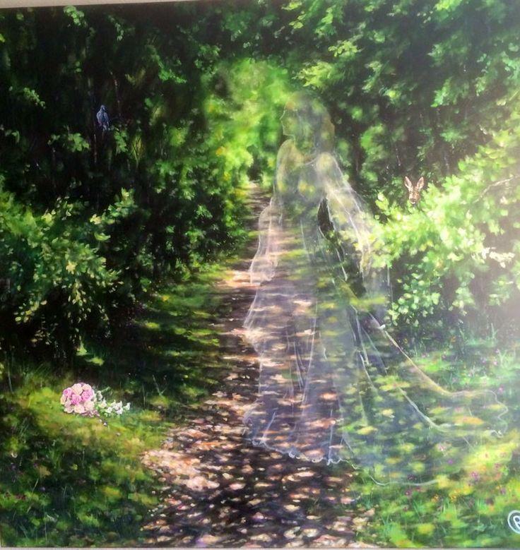 """Bride Acrylic on canvas 100x100 www.ricasso.se"
