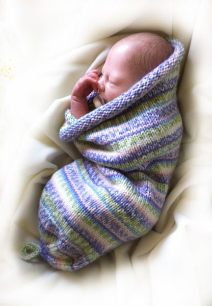 Baby Cocoon - Scroll down for hand-knitting instructions. I know two couples having babies.... hmmmm. any requests?