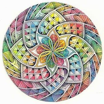 Enthusiastic Artist: Kaleidoscope    #ZentangleDesign    #ColoredZentangle    #art