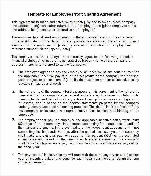 30 Profit Sharing Plan Template In 2020 Letter To Teacher Lettering