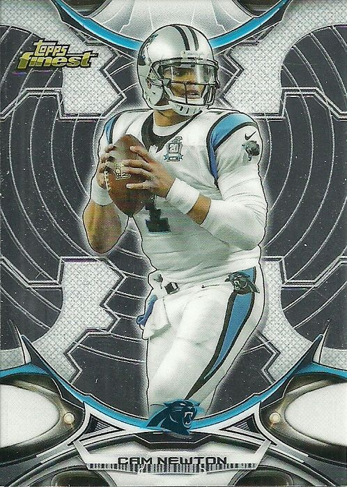 2015 TOPPS FINEST #14 CAM NEWTON PANTHERS 50 CENT SHIP #CarolinaPanthers