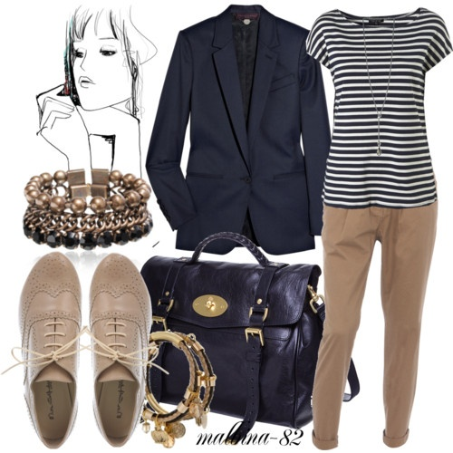 Oxfords outfit. this reminds me of Olivia P...