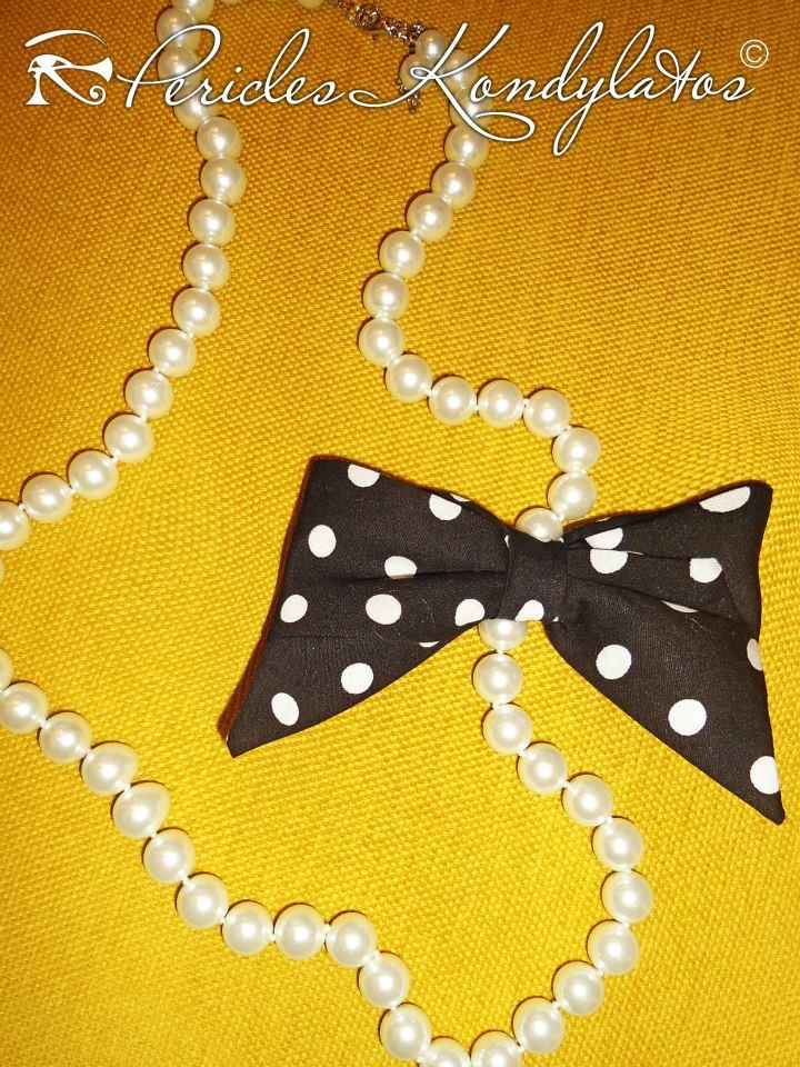 "Spring ""Bows & Pearls"" collection by Pericles Kondylatos available @ Vassilis Zoulias boutique Akadimias 4 Athens."