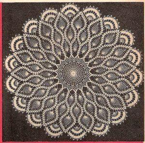 Crochet Doily Patterns | Pineapple Crochet Centerpiece Pattern, Doily Large Patterns Table ...