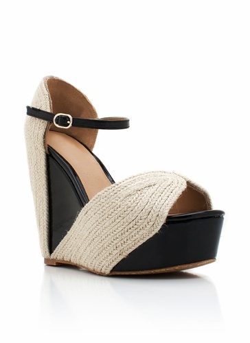 Different style to the espadrille wedge!