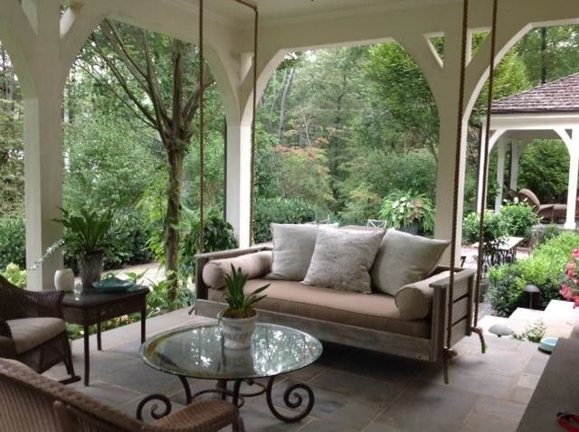Inspired Wooden Porch Swings In Porch Charleston With Wooden Porch Swings  Next To Most Comfortable Porch · Hanging RopeHanging BedsVintage ...