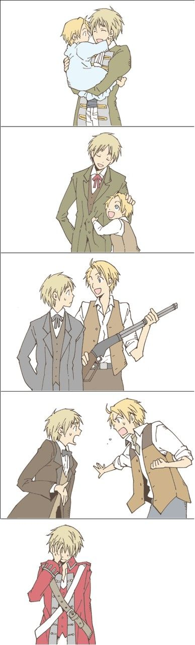 America and England, Hetalia Fan Art. D: (not a yaoi person, so, i see this as a father/son relationship)