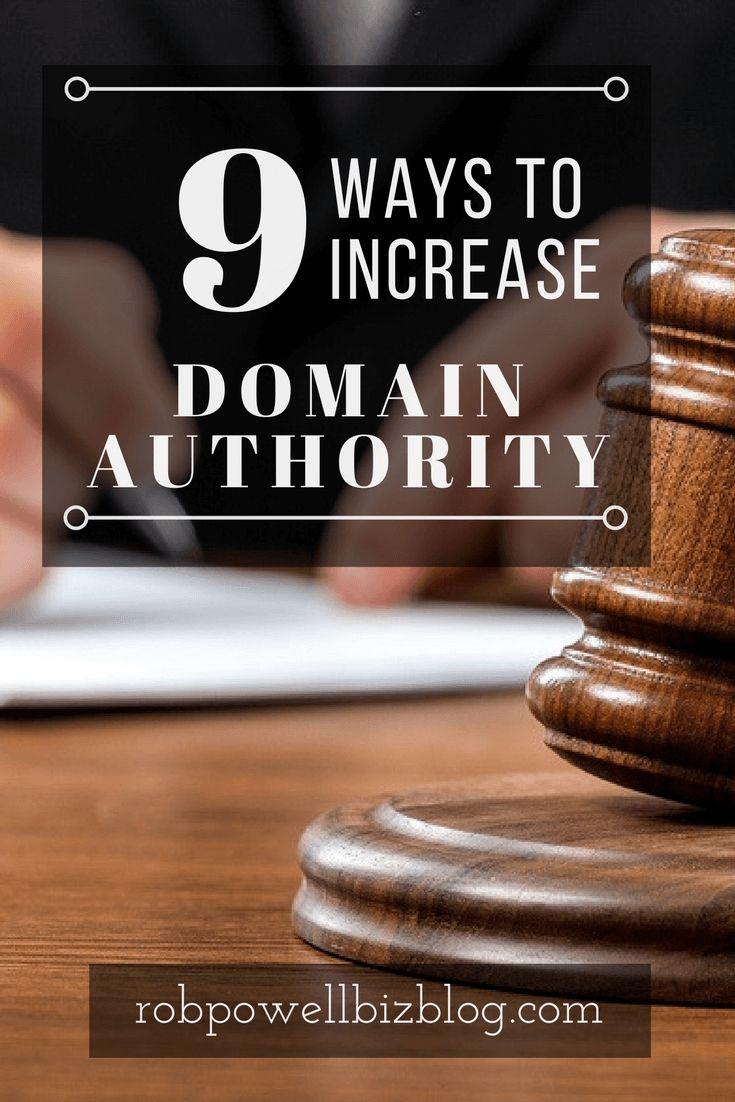 9 Ways Increase Domain Authority Pin