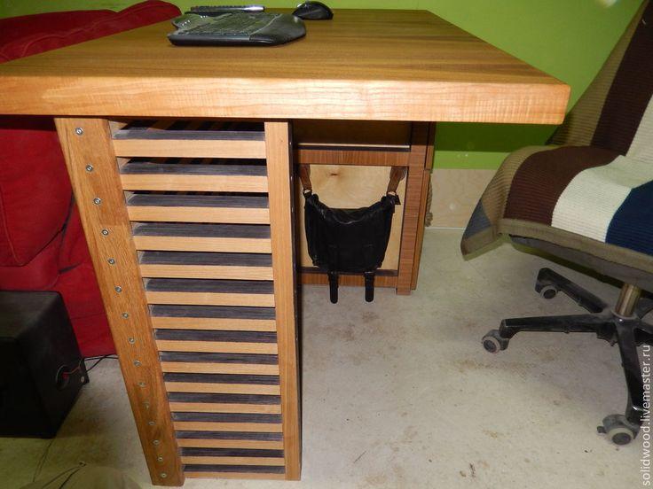 Купить Стол для работы - стол, столик, стол письменный, рабочий стол, мебель из дерева