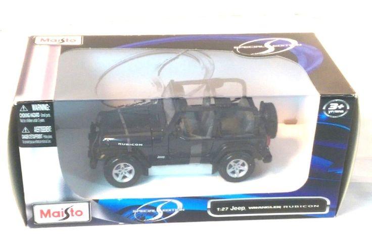 Maisto Jeep Wranger Rubicon 1:27 Diecast Model Car New in Box MIDNIGHT BLUE #Maisto #Jeep