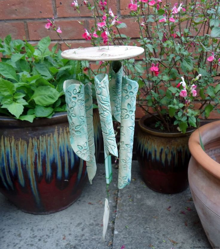 chimes: Diy Windchimes, Ceramics Design, Ceramics Wind, Pretty Windchimes, Clay Inspiration, Charlotte Hupfield, Ceramics Hanging, Hupfield Ceramics, Wind Chimes